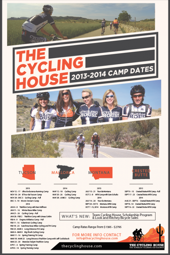 The Cycling House 2013/14 Camp Schedule