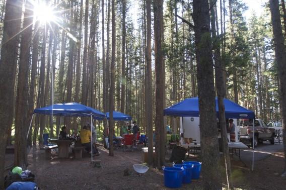 One of our 6 campsites at the Tour de Montana. Photo - Heidi Swift